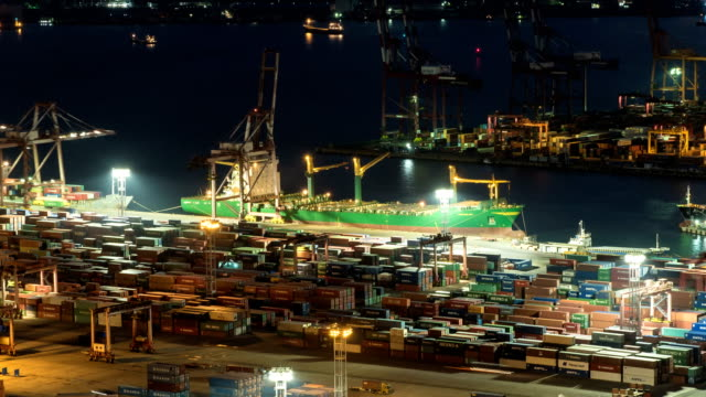 View Of Container Ship Carrying Cargo Containers On The