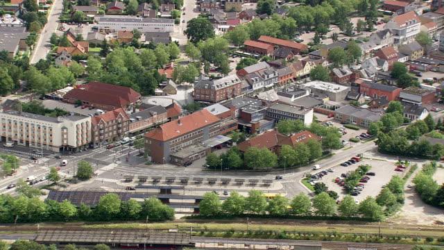 ws aerial pan view of copenhagen / copenhagen, denmark - oresund region stock videos & royalty-free footage