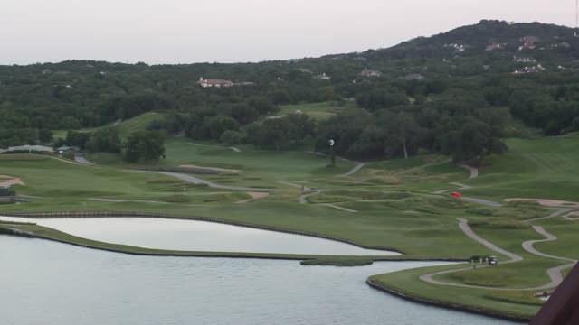 WS PAN View of Country Club golf course and 360 Bridge / Austin, Texas, United States