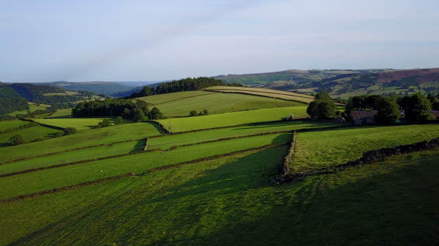 View of countryside near Hollow Meadows and Bamford, Peak District National Park, Derbyshire, England, United Kingdom, Europe