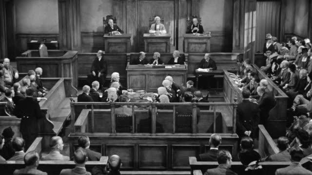 ms view of courtroom over proceeding - 1 minute or greater stock videos & royalty-free footage