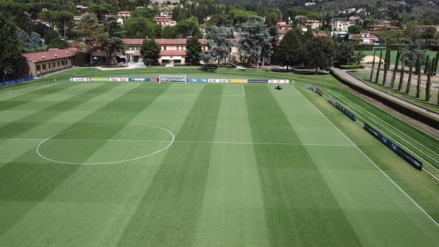 view of coverciano training center on october 1, 2017 in coverciano , italy. - football pitch stock videos & royalty-free footage