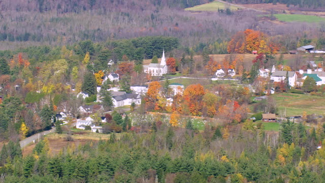 WS ARIEAL View of Craftsbury town / Vermont, United States