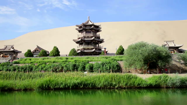 TU View of Crescent Moon Spring /Dunhuang, Gansu, China