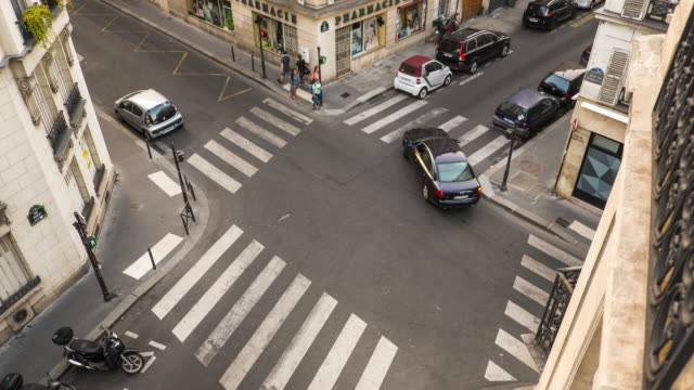 View of Crosswalk from French Apartment - Time Lapse