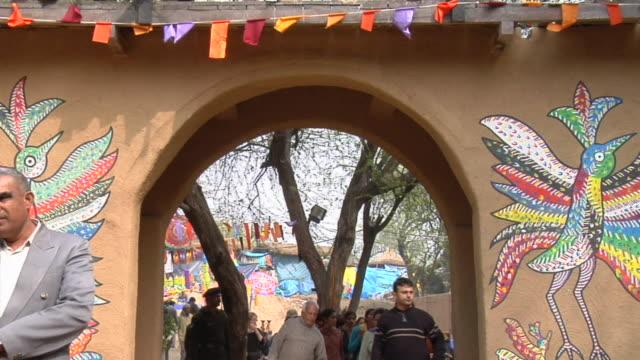 WS View of crowd at Surajkund Fair / Faridabad, Haryana, India
