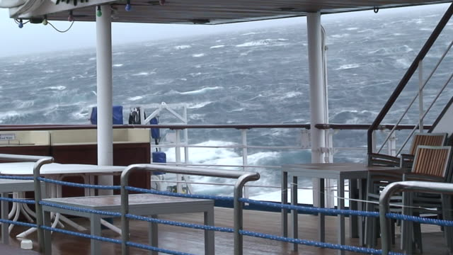 ms view of cruise ship in storm / at sea - cruise ship stock videos & royalty-free footage