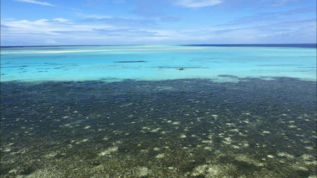 view of crystal clear sea around carteret islands in papua new guinea - papua stock videos and b-roll footage