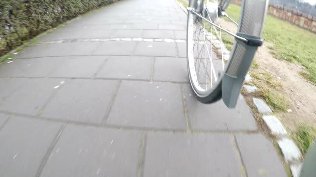 view of cycling - spinning point of view stock videos & royalty-free footage