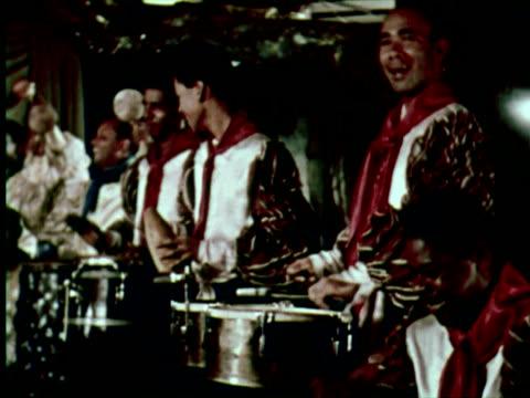 ms view of dance in hotel, belgrade, yugoslavia / audio - serbia stock videos & royalty-free footage