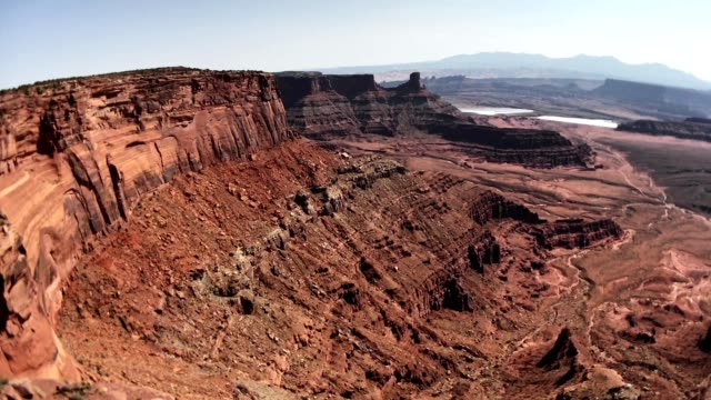 view of dead horse point state park - state park stock videos & royalty-free footage
