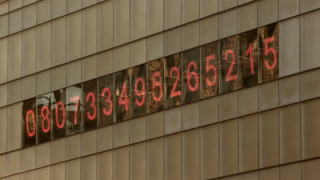 ms view of debt clock / new york, new york,united states - debt stock videos & royalty-free footage