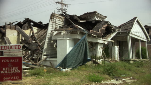 WS View of demolished houses / New Orleans, Louisiana, USA