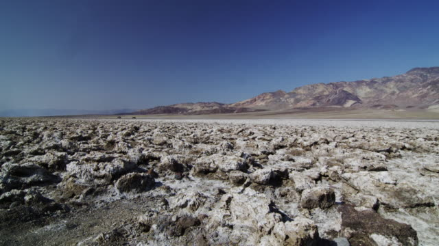 ws view of devils golf course in death valley / death valley, california, usa - death valley national park stock videos and b-roll footage