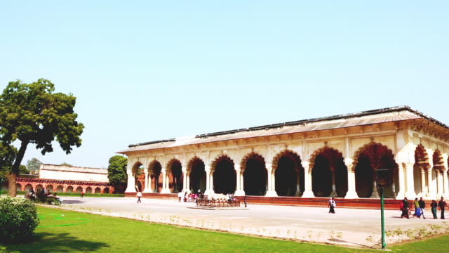 WS PAN View of Diwan-I-Am at Agra Fort / Agra, Uttar Pradesh, India