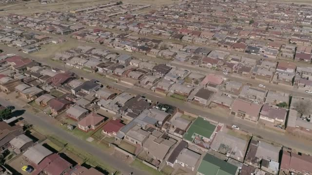 aerial view of dobsonville/ soweto/ south africa - soweto stock videos and b-roll footage