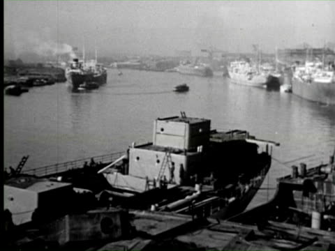 b/w view of dock, england / audio - newcastle upon tyne stock videos & royalty-free footage