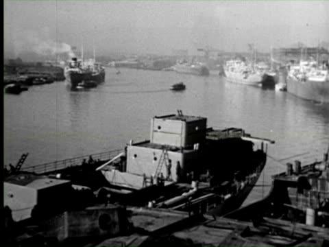 b/w view of dock, england / audio - newcastle upon tyne stock videos & royalty-free footage