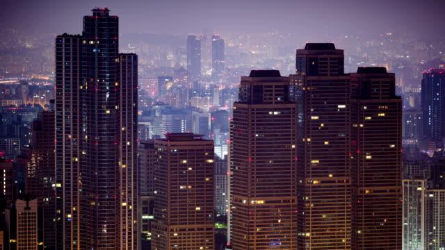 vídeos y material grabado en eventos de stock de view of dogok tower palace apartment in gangnam-gu at sunrise - comodidad
