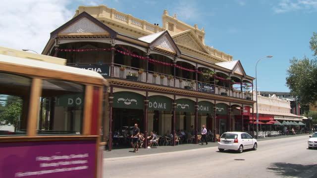 ws tu view of dome fremantle restaurant / fremantle, western australia, australia - フリーマントル点の映像素材/bロール