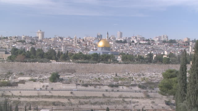 ws zi zo view of dome of rock / jerusalem, central province, israel - sri lankan culture stock videos & royalty-free footage