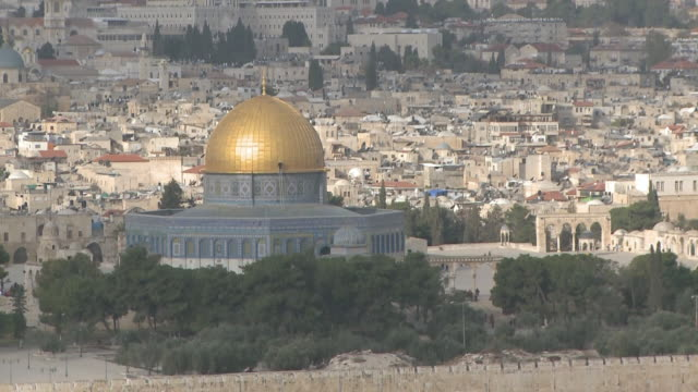 ws view of dome of rock / jerusalem, central province, israel - sri lankan culture stock videos & royalty-free footage