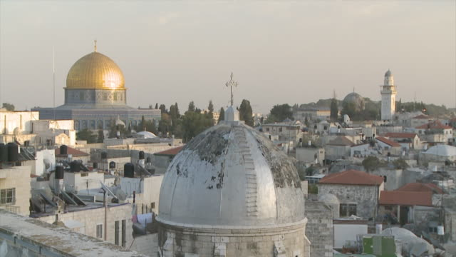 ms view of dome of rock / jerusalem, central province, israel - sri lankan culture stock videos & royalty-free footage