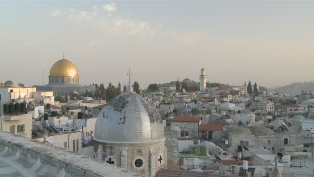 ms zi view of dome of rock / jerusalem, central province, israel - sri lankan culture stock videos & royalty-free footage