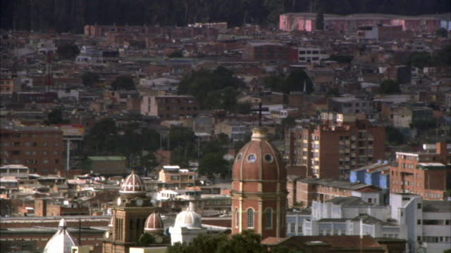 HA WS View of domed church and cityscape / Bogota, Colombia