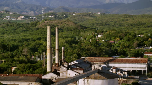 WS ZO AERIAL POV View of Don Q Distillery / Ponce, Puerto Rico, United States
