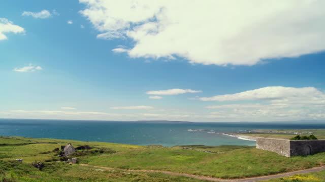 WS PAN View of doonagore castle / Doolin, County Clare, Ireland