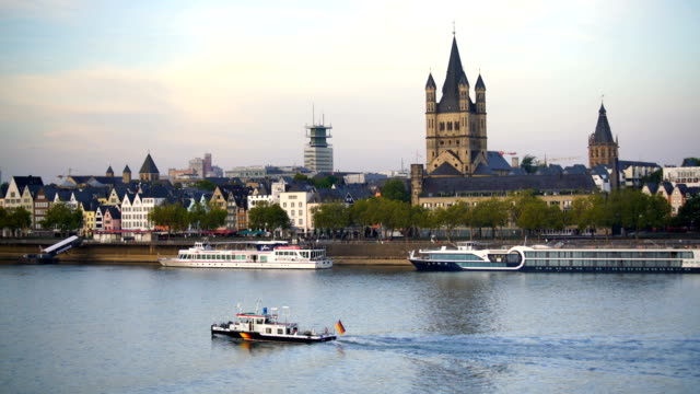 view of downtown cologne city skyline - german culture stock videos and b-roll footage