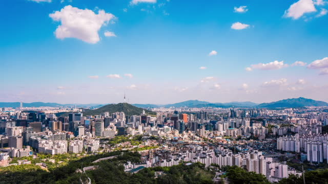 View of Downtown District Around the Namsan Tower(Highest point in Seoul)
