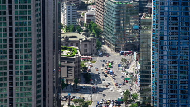View of downtown district in Myeong Dong (Primary shopping districts in Seoul)