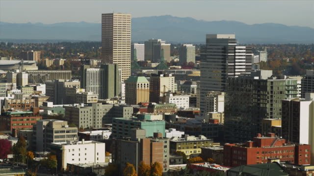 ws view of downtown portland / portland, oregon, usa - establishing shot stock videos & royalty-free footage