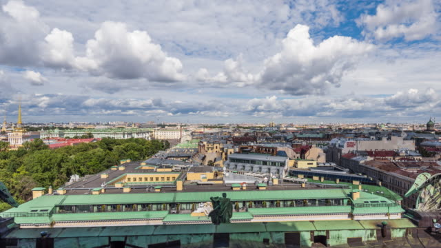 T/L WS HA PAN View of Downtown Saint Petersburg / Saint Petersburg, Russia