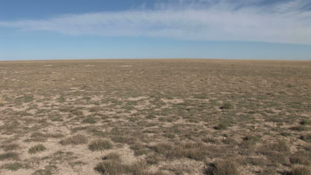 View of drought landscape in Wyoming United States