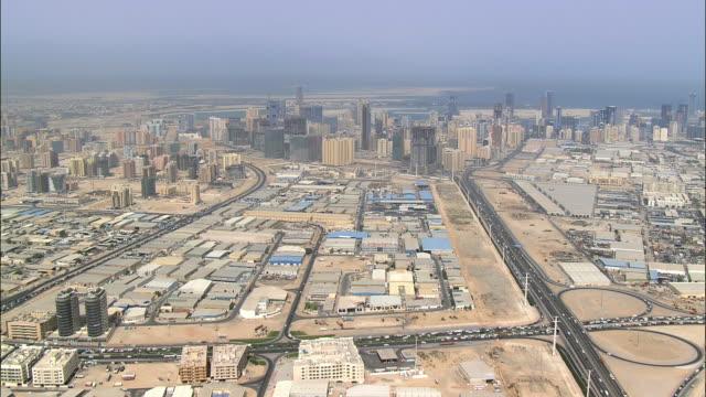 AERIAL view of Dubai skyscrapers, Dubai, United Arab Emirates