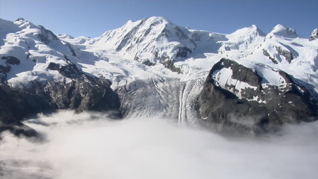 View of Dufourspitze and Gorner Glacier from Gornergrat