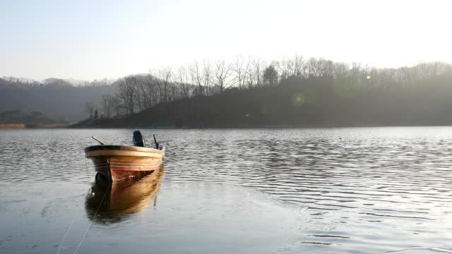 View of dugout canoe in Chuso-ri
