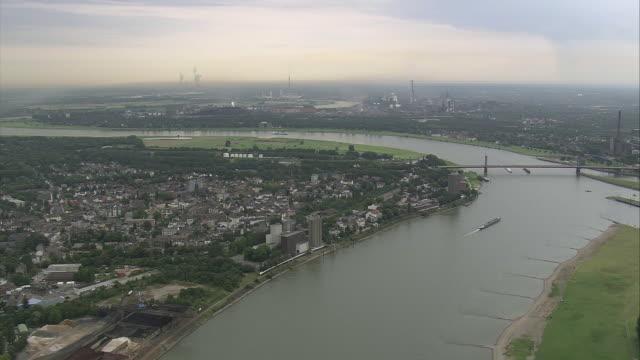 AERIAL View of Duisburg, North Rhine-Westphalia, Germany