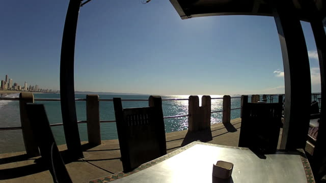 view of durban from ushaka  pier - kwazulu natal stock videos & royalty-free footage