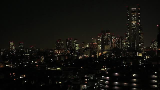 WS View of Dusk of Skyscrapers / Shinjyuku, Tokyo, Japan