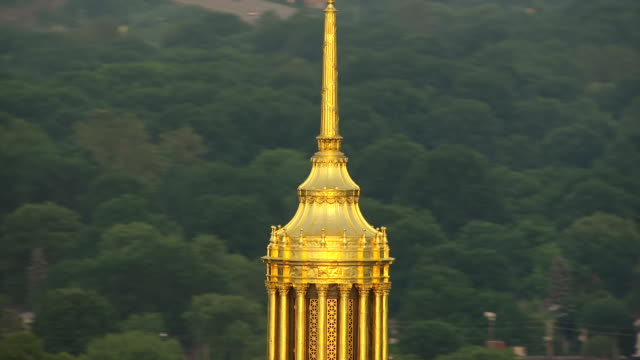 cu ts td aerial view of eagle at top of dome to gold building detail / charleston, west virginia, united states - dome stock videos & royalty-free footage