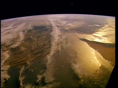 View of Earth from space, over Middle East, Persian Gulf, STS-55