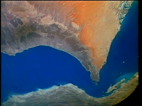 View of Earth from space, over Middle East, STS-40
