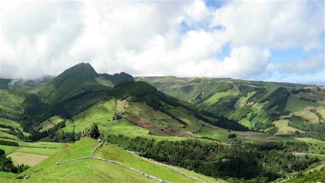 Blick auf den östlichen Küste von Flores Island auf den Azoren