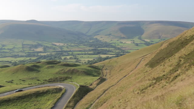 view of edale valley, derbyshire, england, uk, europe - 2003 stock videos & royalty-free footage