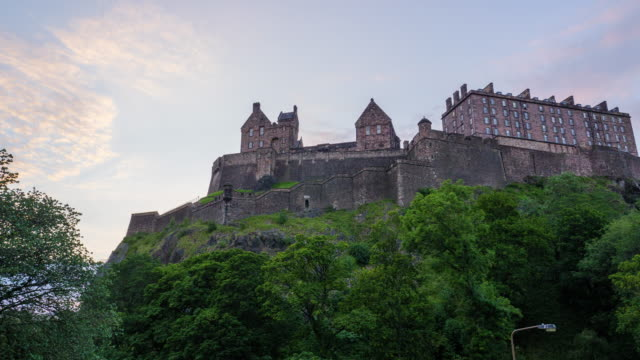 view of edinburgh castle - edinburgh castle stock videos & royalty-free footage
