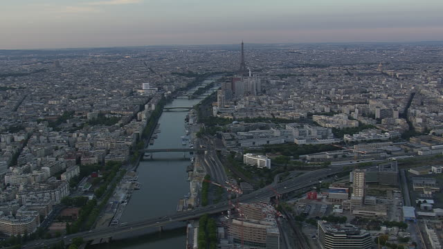 WS AERIAL ZI View of Eiffel Tower / Paris, France